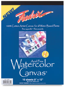Review: Fredrix Watercolor Canvas