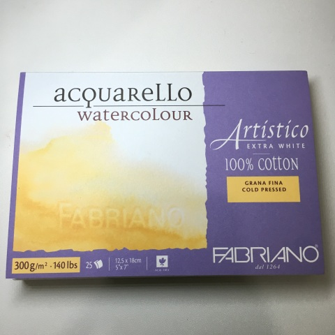 "Fabriano Artistico Watercolor Block, Cold Pressed (9""x12"", 20 Sheets)"