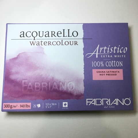Fabriano Artistico Watercolor Block, Hot Pressed