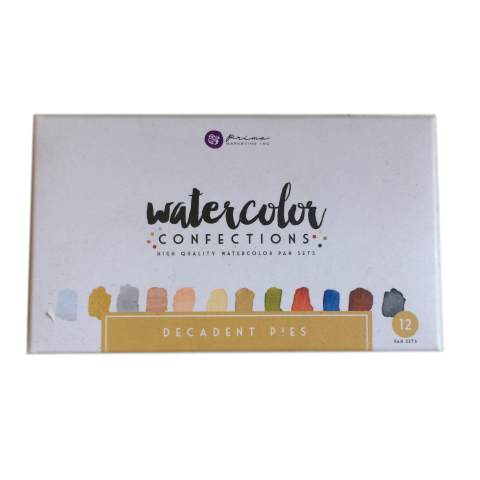 Prima Watercolor Confections, Decadent Pies