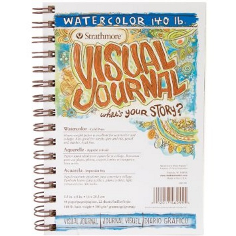 "Strathmore Visual Journal: Watercolor (Spiral Bound, Cold Pressed, 300 gsm, 5.5""x8"")"