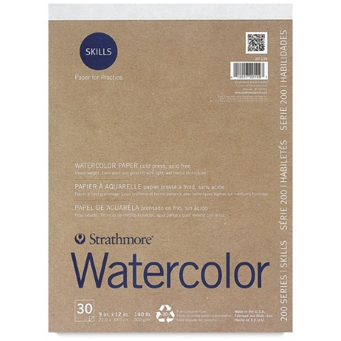 Strathmore Skills Watercolor Pad (200 Series, 300 gsm)
