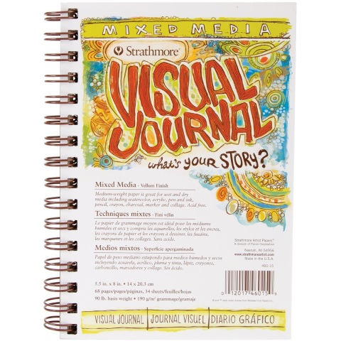 "Strathmore Visual Journal: Mixed Media (Spiral Bound, Vellum, 190 gsm, 5.5""x8"")"