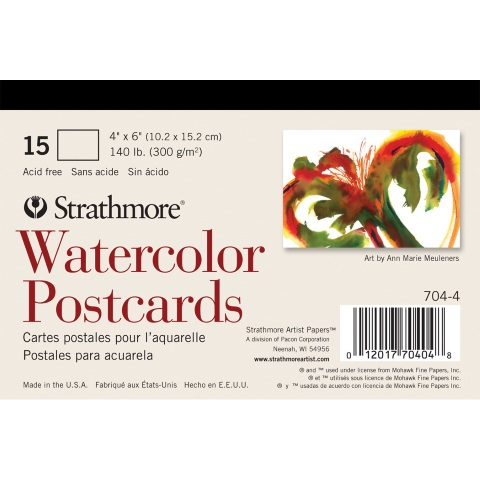 Strathmore Blank Watercolor Postcards (15 Sheets)